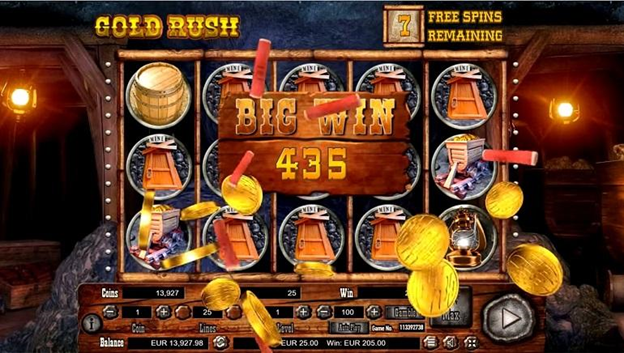 Play and Win Gold Rush Slot Game
